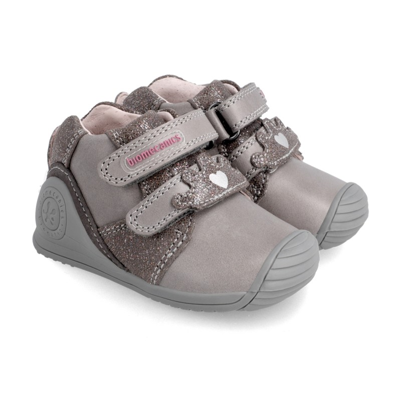 Leather ankle boot for baby 211109