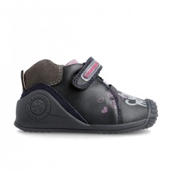 Leather ankle boot for baby 211117