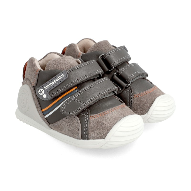 Leatrher sneakers for baby boy