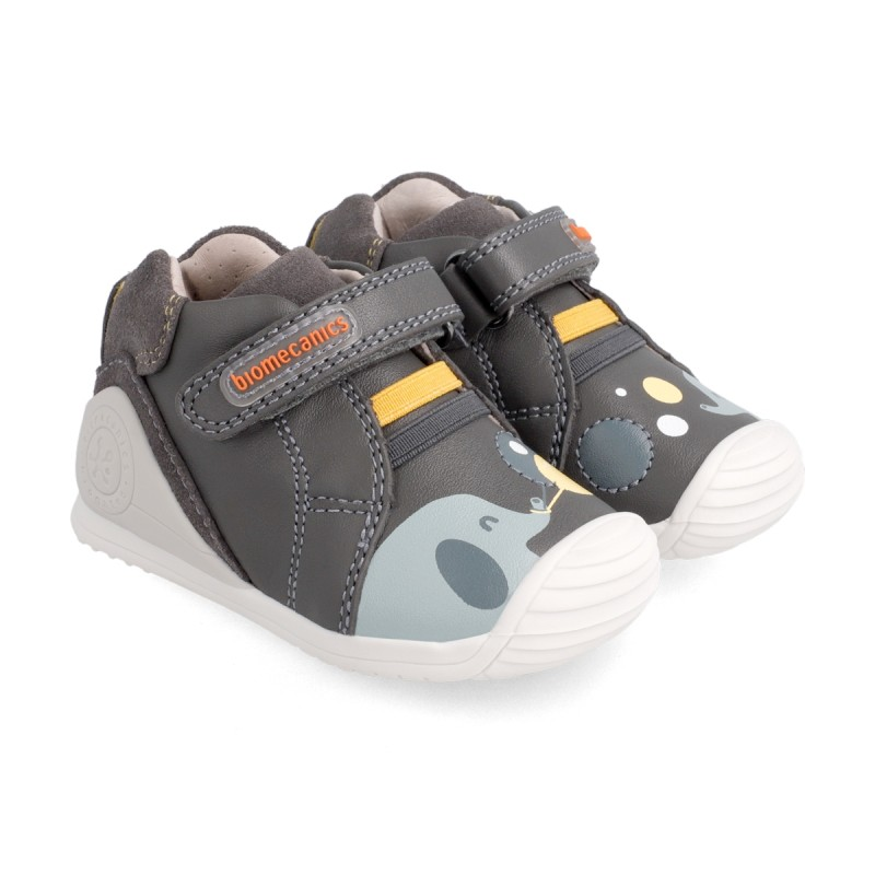Leather ankle boots for baby boy 211147