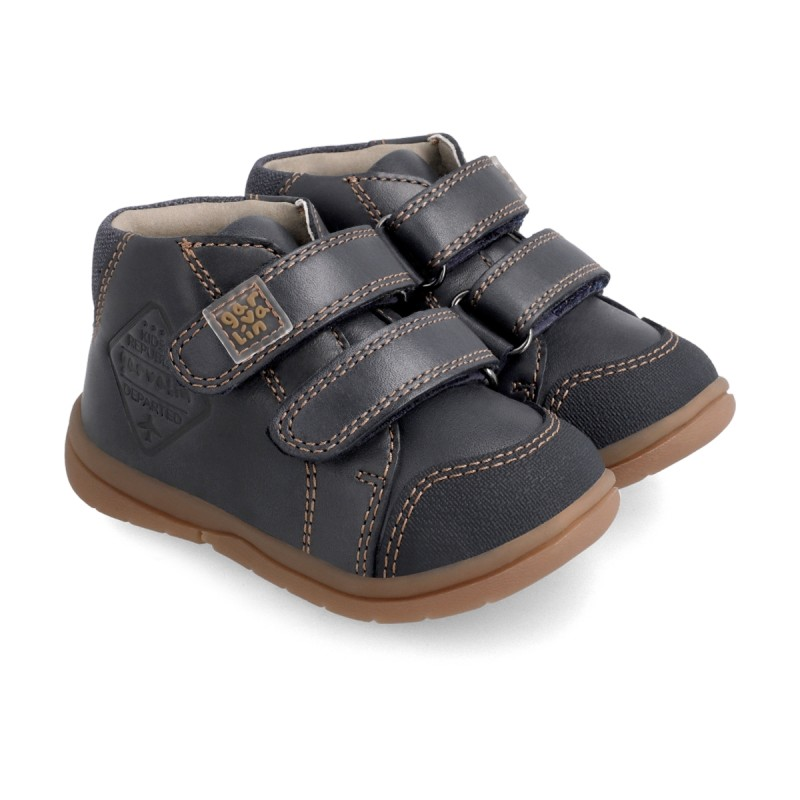 Leather ankle boot for boy 211600