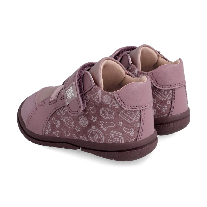 Leather ankle boot for girl & boy 211603