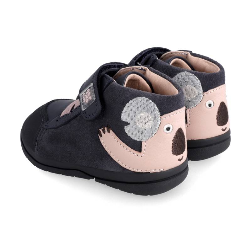 Leather ankle boot for girl & boy 211604