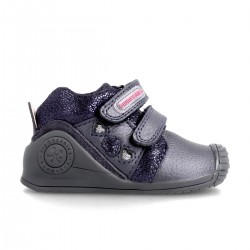 Leather ankle boot for baby 211108