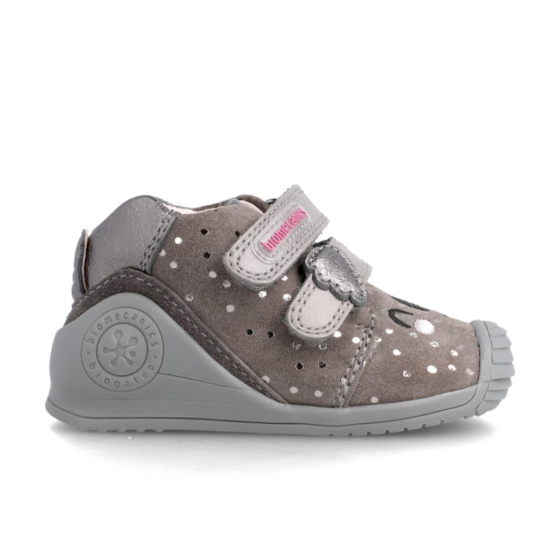 Leather ankle boot for baby 211114