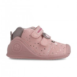 Leather ankle boot for baby 211115