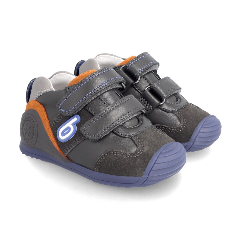 Leatrher sneakers for baby boy 211133