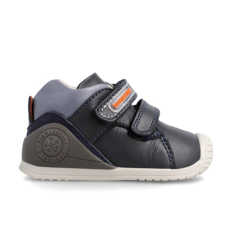 Leather ankle boots for baby boy 211136