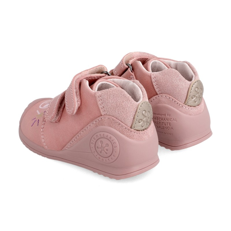 Leather ankle boot for baby 211112
