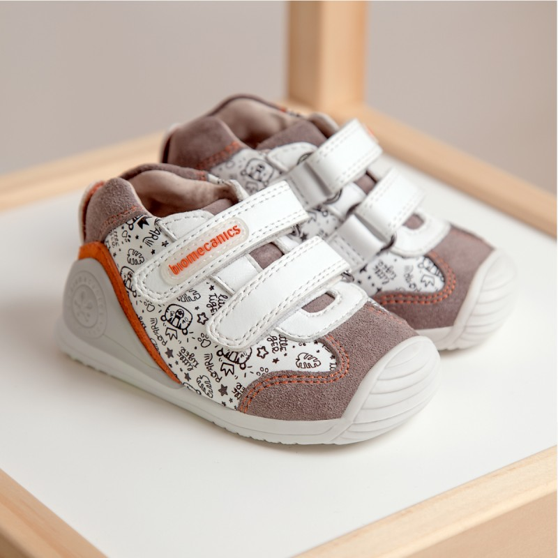 Leather ankle boots for baby boy 211149