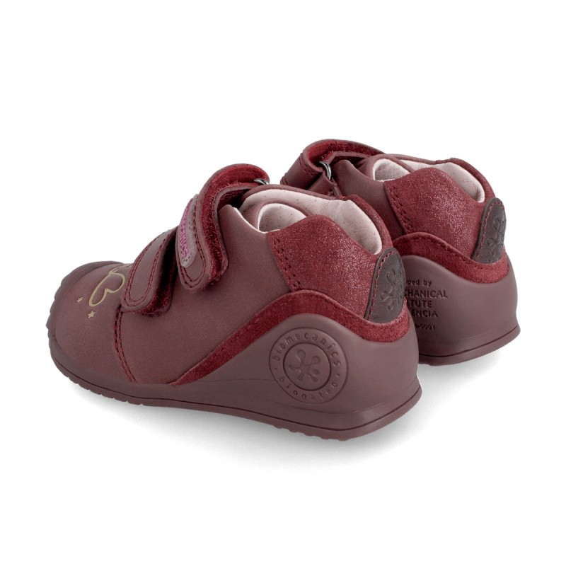 Leather ankle boot for baby 211110