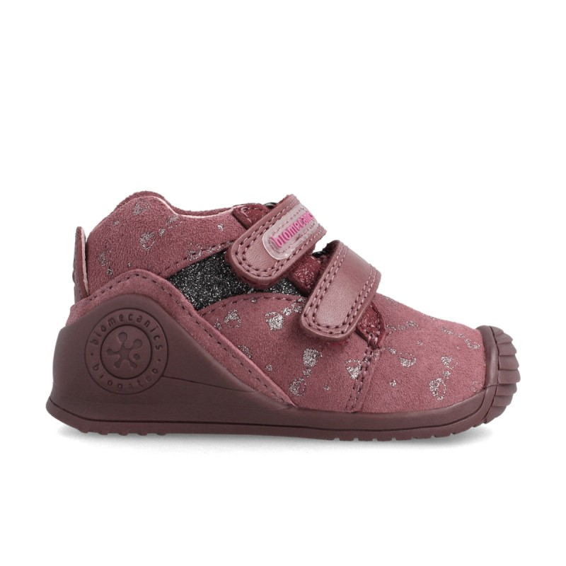 Leather ankle boot for baby 211116
