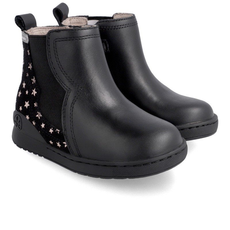 Leather ankle boot for girl 211201